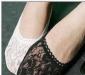 2012蕾丝船袜短袜 黑白花型船袜 蕾丝花边船袜 隐形船袜子袜子